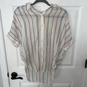 Aerie Sheer Striped Button Up